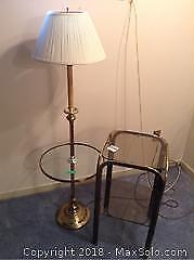 Floor Lamp And Table