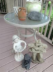 Garden Ornaments And Table