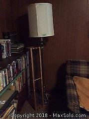 Floor Lamp and CD Stand A