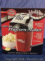 Betty Crocker Hot Air Popcorn Maker New A