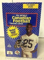 1991 CFL Football Cards Unopened Box 36 Packs