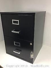 Small Two Drawer Filing Cabinet