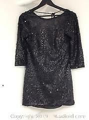 Size 4 Short Black Sequin Dress