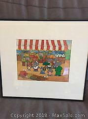 Babar Framed Giclee Mint Condition