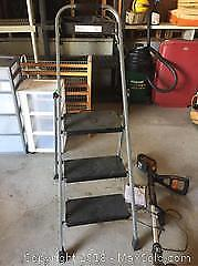 Step Ladder And Weed Trimmer B