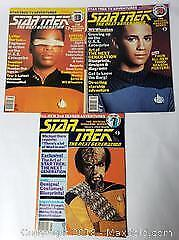 Star Trek Vintage Magazine Lot Of 3