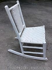 Antique Hand Made Primitive Rocker Chair B