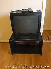 Goldstar Television And VHS Player With Stand - B