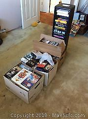 DVDs Videos And Video Storage Tower A