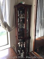 Corner Curio Cabinet C