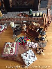 Baskets, Pillow, Kettles, Candles, Holders and More A