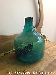Large Hand Blown Glass Jug