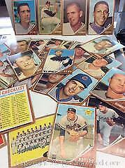 1962 Topps Baseball Card Lot of 24 Different