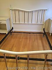 Double Size Metal Bed Frame - C