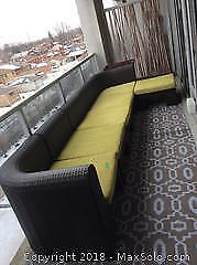 Outdoor Couch with Ottoman B