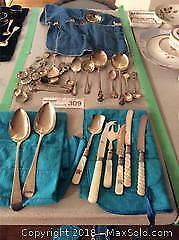 Sterling And Silver Plate Flatware A