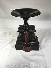 Antique Marble And Granite Garniture Stand