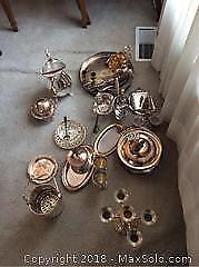 Silver Plate and Metal Items And More A
