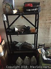 Metal Shelf with Contents C
