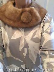 2 Fur Collars For Top Of Sweaters Tan And Black