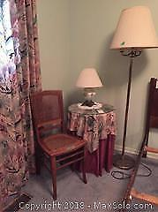 Table, Chair And Lamps C