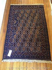 Hand Woven Middle Eastern Carpet