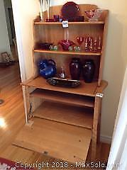 Solid Maple China Hutch