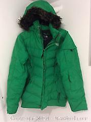 Green North Face Jacket Womens Large