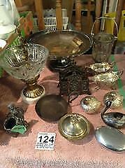 Pedestal Dish, Paper Weights and More. B