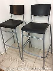 Pair Of IKEA Stig Bar Height Chairs