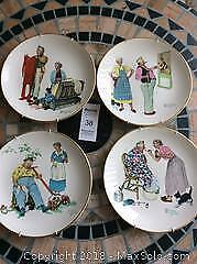 SET OF FOUR NORMAN ROCKWELL PLATES-A