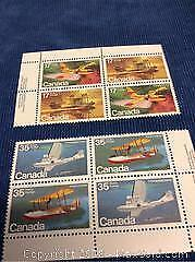 Canada Aviation Stamps Mint Blocks
