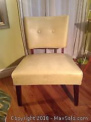 Mid Century Modern Vinyl Chair