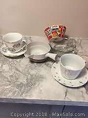 Lot Of Mixed Small Bowls And Cups And Saucers