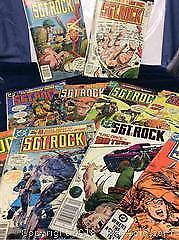CD Comics Sgt Rock Vintage Comic Book Lot Of 10 DC