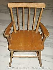 Childs Wood (Pine) Rocking Chair