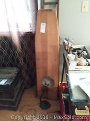 Vintage Wood Ironing Board And Lamp B