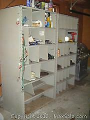 Metal Shelving Units And Contents C