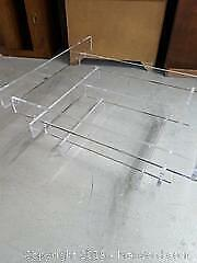 Glass coffee table with plexi base. Pick Up Cat A