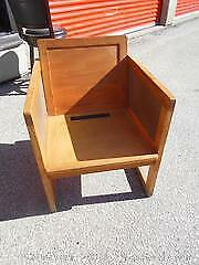 Rare Walter Nugent 1960s Wood Side Chair - No cushions Category B