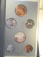 1993 Royal Canadian Mint Specimen Proof Set Of Canadian Currency Coins.