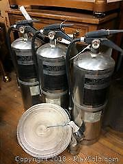 Lot of Fire Extinguishers and Hose
