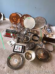 Silver Plate, Serving Trays and More A
