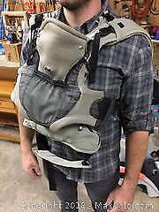 Snugli baby carrier, infant vibrating chair (was our childs favorite) and play table