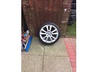 Skoda alloy wheel and tyre