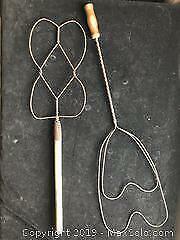 Antique Rug Beaters x 2