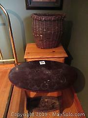 Night Stand, Table and Basket A