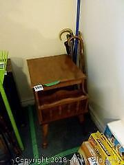 Vintage End Table, Vintage Canes and Carpet Groomer B