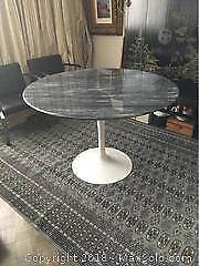 Marble Table On Tulip Pedestal Base