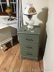 Small Set Of Drawers and Lamp A